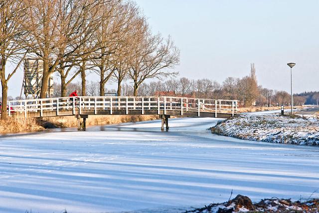 Small bridge with biker, Huis ter Heide - The Netherlands (5703)