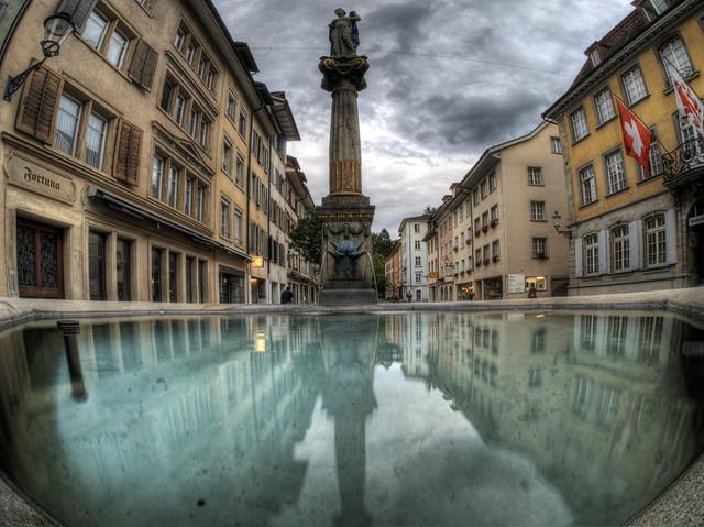 Drinking fountain, Old Town Winterthur, Switzerland