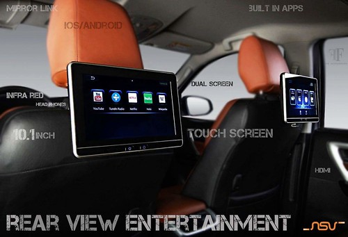 """NSV """"Smart Headrest Monitors"""" for rear view entertainment purpose now exclusively available at ff car accessories, Chennai. One of the innovative product with mind blowing features, not like other headrest monitors it will change your rear view entertainm"""