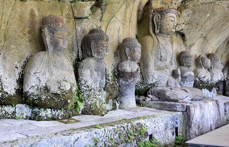 JAPON USUKI STONE BUDDHAS