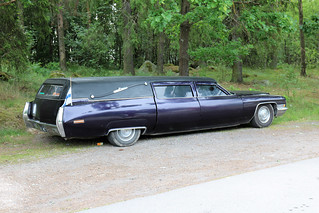 1972 Cadillac with Superior Hearse body