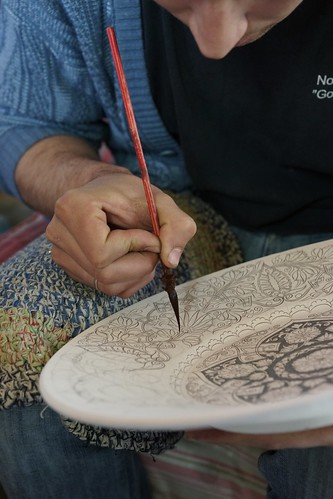 Delicate ceramic hand painting, Rishton | by Joe Lewit
