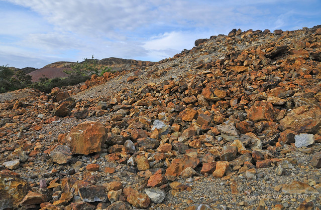 Rocks excavated from Parys Mountain