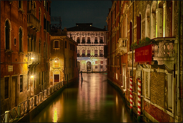 Venice at Night - View to Canal Grande