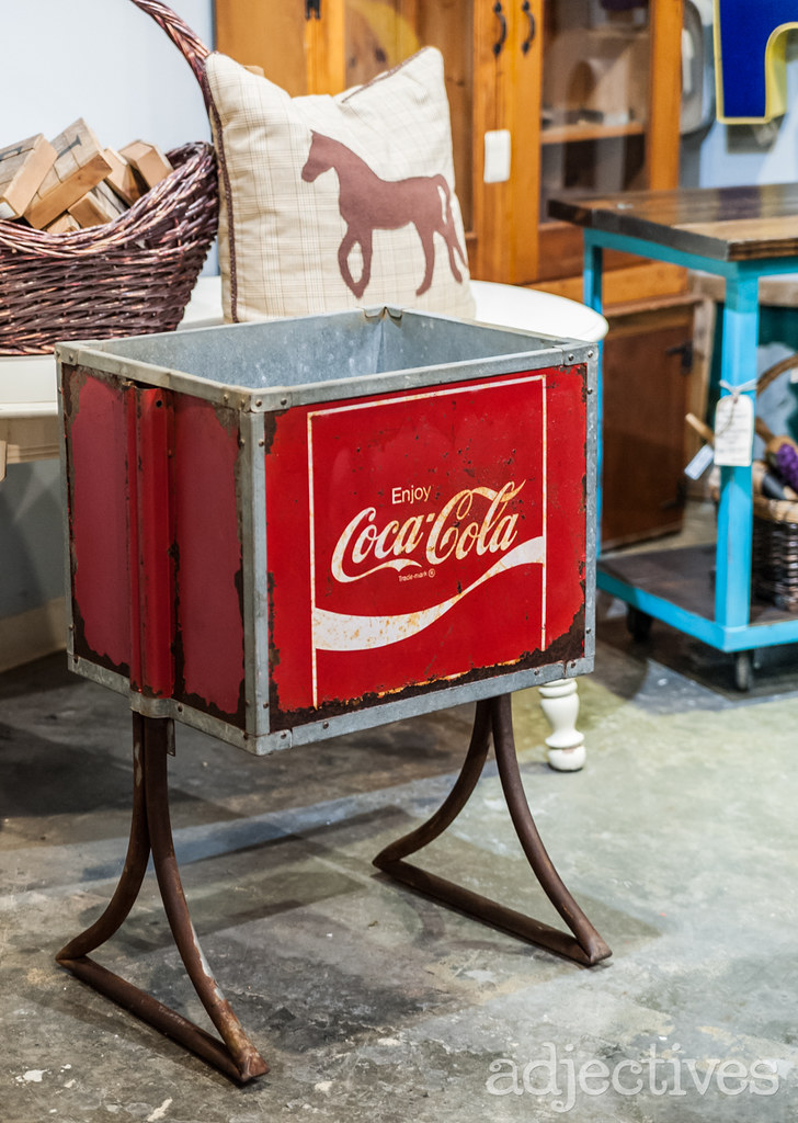 Vintage Coca-Cola cooler by Forever Farmhouse at Adjectives Altamonte