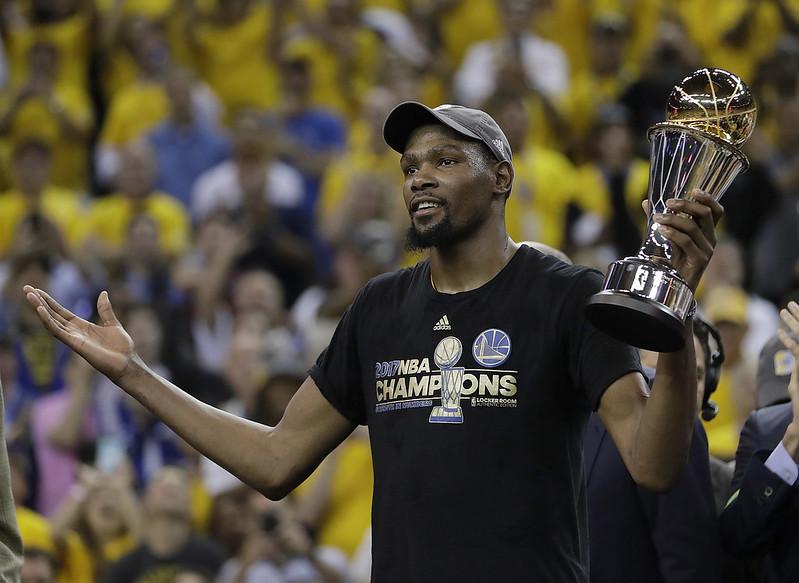 達成奪冠夢想的Kevin Durant將展開新篇章。(達志影像資料照)