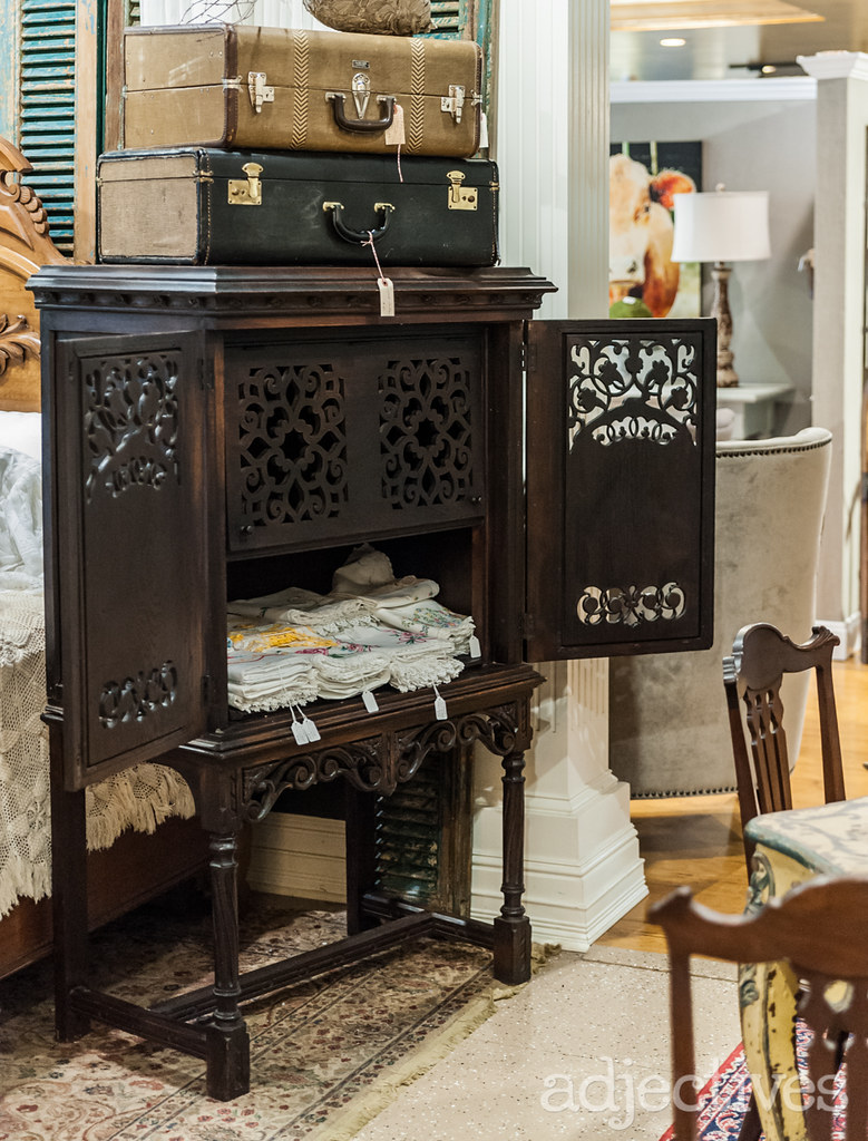 Antique armoire by The French Nest at Adjectives Winter Park