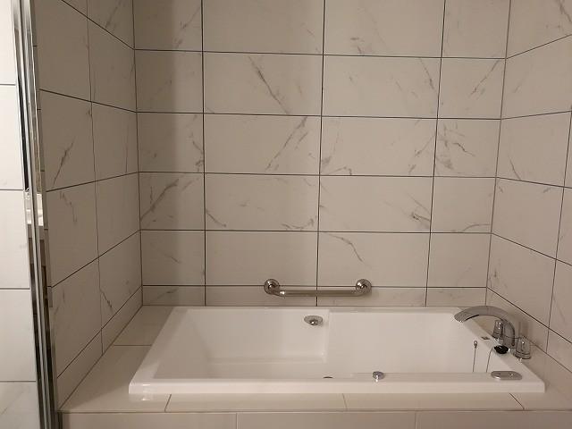 <p>バスタブ、showerスペース広くて気持ちよい。</p>