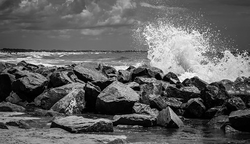 wave waves crashingwave wavecrashing spray mist oceanspray seaspray sea ocean oceanwave beach inlet rocks boulders coast coastline jetty jettyrocks blackandwhite blackwhite blackandwhitephotography outdoor outdoors getoutside northcarolina southcarolina water saltwater nikond3300 nikon nikonphotography nikonoutdoors lightroom adobelightroom travel travelphotography crashing lightandshadow clouds landscape landscapephotography landscapes geography birdisland scenicsnotjustlandscapes shore shoreline littleriverinlet