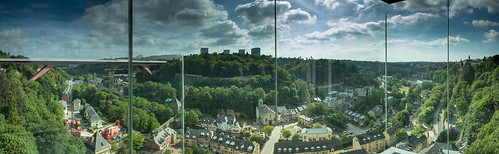 View from Pfaffenthal Lift, Luxembourg | by St James Gate