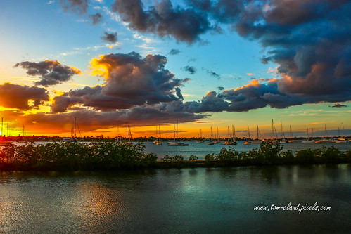 sailboats river stlucieriver shepardspark weather cloudy sky clouds sunset stuart florida usa seascape bluesky reflection boat water south fork
