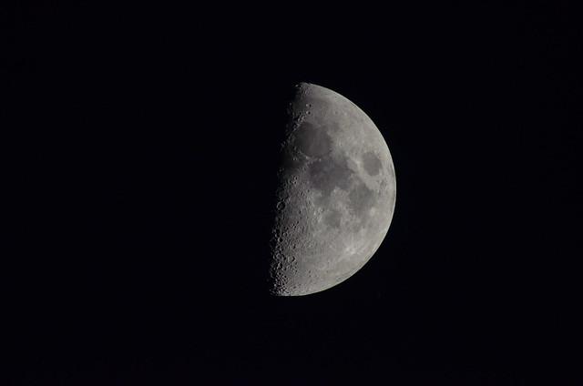 Moon captured with Nikon 600mm f/4 AIS + Nikon TC-16a TC with manual focus