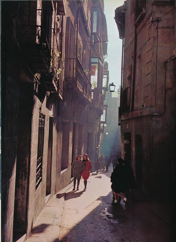 Calle Nuncio Viejo de Toledo hacia 1967 por Marc Flament.