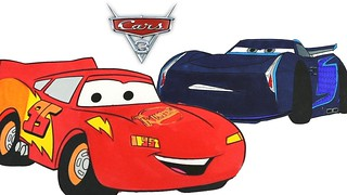 Disney Cars 3 Coloring Pages Lightning Mcqueen Jackson Sto Flickr