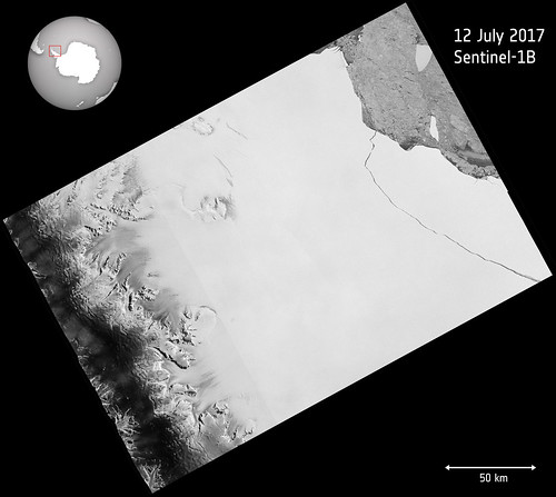 Larsen C breaks | by europeanspaceagency
