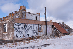 Graffiti on Abandoned castle in the West Fjords