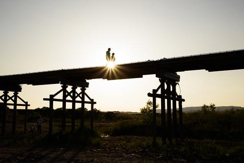 八幡市 京都府 japan kyoto 木津川 流れ橋 川 river 橋 bridge 夕景 sunset