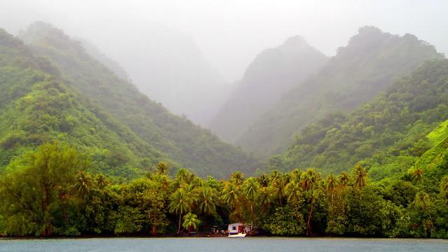 Paysage du Fenua Aihere à Teahupoo, Tahiti