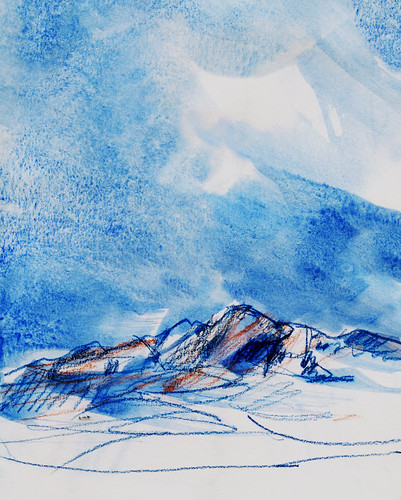 Wales: Carn Llidi in blue and orange | by Laura Frankstone