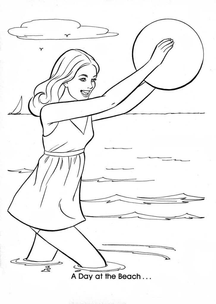 Barbie Coloring Book Page 73 Devon Parks Flickr