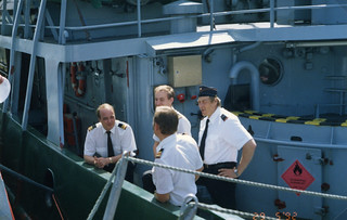 Suomenlahden merivartioston komentajan vaihto 29.5.1992