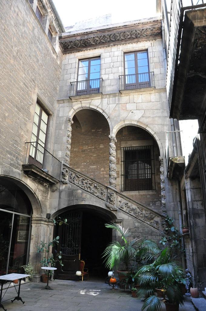 "Barcelona (Montcada street). Dalmases's House (""Palau Dalmases"").  Circa 1700."