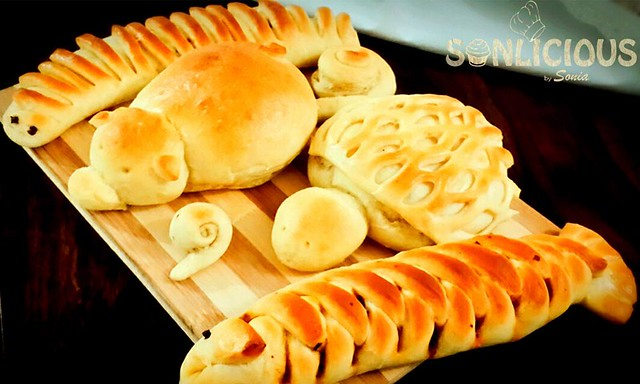 Stuffed animal shaped rolls