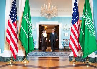 Secretary Tillerson and Saudi Foreign Minister al-Jubeir Prepare to Address Reporters in Washington