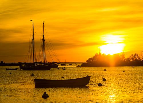 orange yellow capecod cape ma sunset