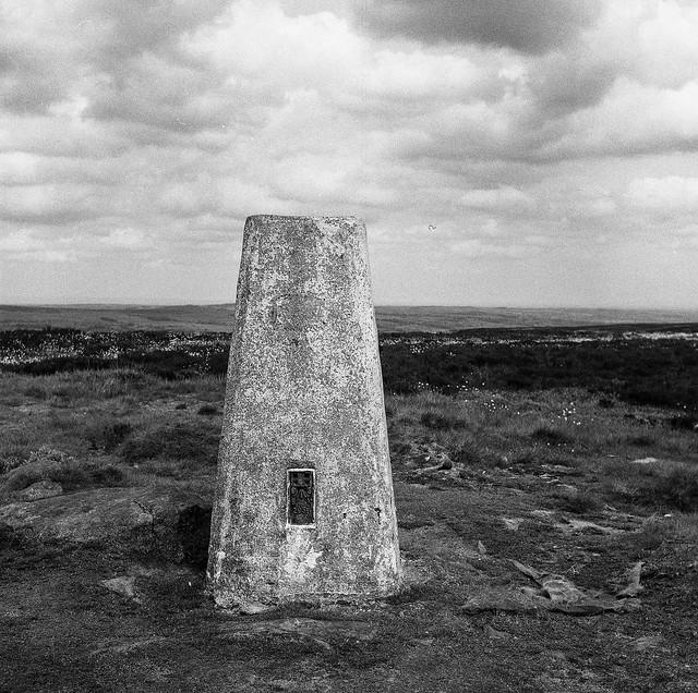 Ilkley Moor Trig Point.