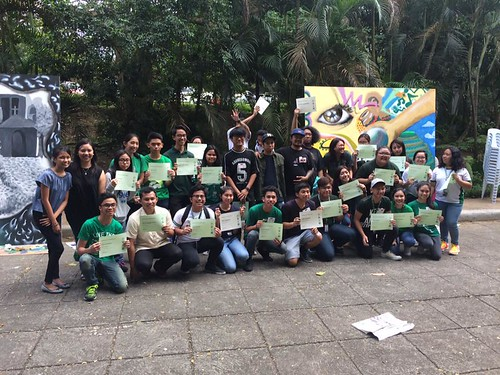 Student-artist mural interaction activity in partnership with the street art group CVTY Collective | by paghilomcavite
