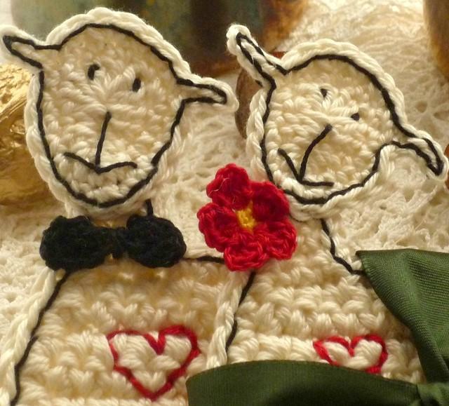 sheep wedding couple coasters