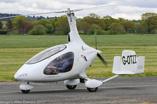 G-OTZZ - 2016 build Rotorsport UK Cavalon, arriving at Halfpenny Green for the 2016 Rotorsport Autogyro Fly-In