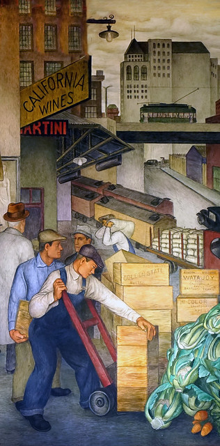 City Life Mural, Coit Tower - delivering agriculture