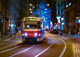 Tram Near Wenceslas Square | by nan palmero