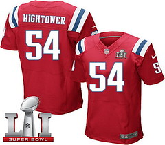 Nike Patriots #54 Dont'a Hightower Red Alternate Super Bowl LI 51 Men's Stitched NFL Elite Jersey