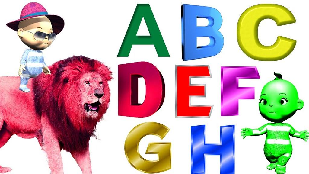 ABC SOngs For Children | 3D ABC Nursery Rhymes | Popular K