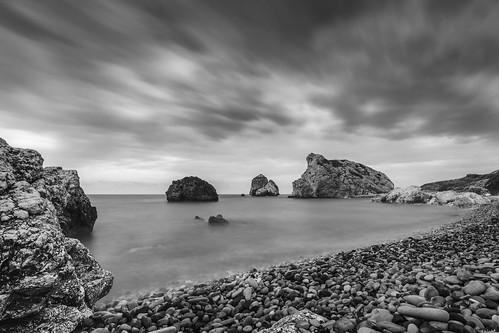 dof landscape nature d500 outdoor stones clouds longexposure cyprus 1120mm ocean published coast beach sea 2017 sky water bw blackandwhite 1120mmf28