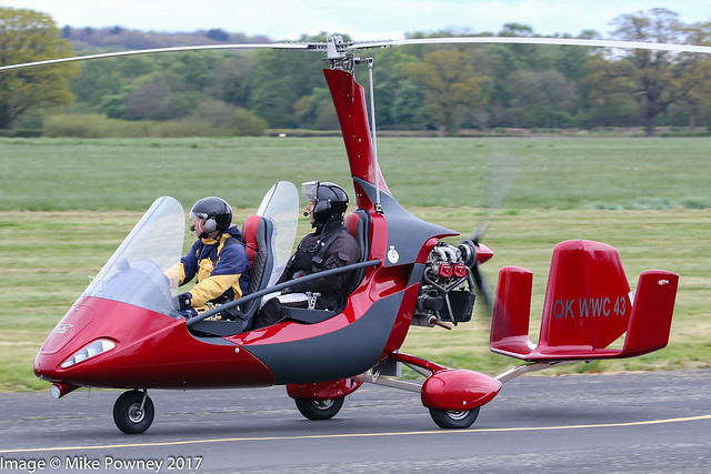OK-WWC 43 - 2017 build AutoGyro MTOsport 2017, inbound from a demo flight at Halfpenny Green