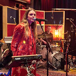Tue, 09/05/2017 - 7:38pm - Maggie Rogers delights a room of WFUV members at Electric Lady Studios in New York City, 5/9/17. Hosted by Carmel Holt. Photo by Gus Philippas