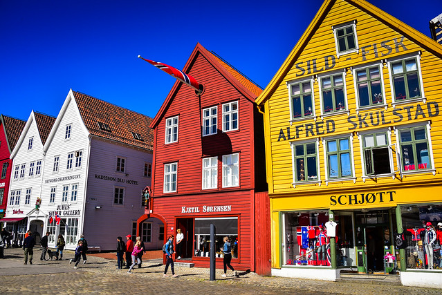 Hanseatic buildings of Bryggen - Bergen Norway