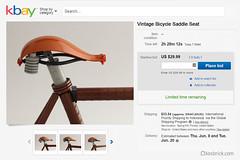 Vintage Bicycle Seat by kosbrick