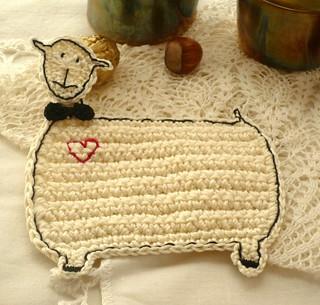 sheep coaster - groom