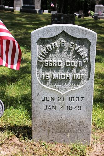 Miron B. Evans; Co. B, 16 Michigan Infantry