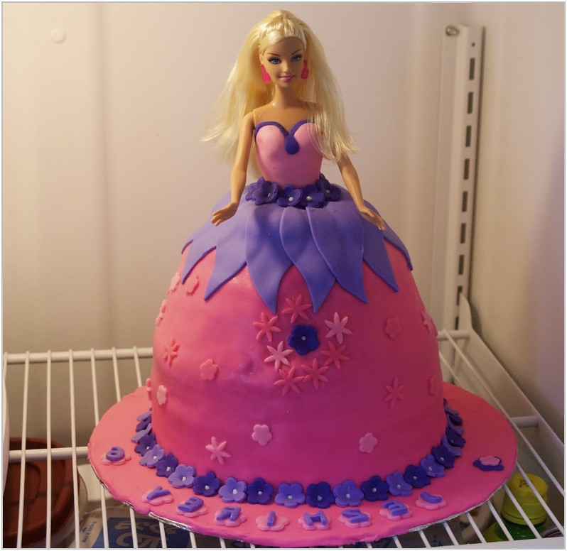 Peachy Barbie Birthday Cakes Girl Birthday Can Be So Wonderful An Flickr Funny Birthday Cards Online Alyptdamsfinfo