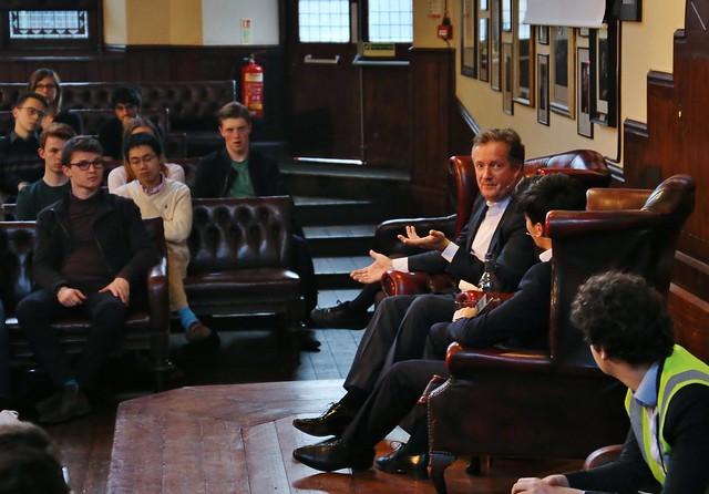 Piers Morgan, Cambridge Union Society