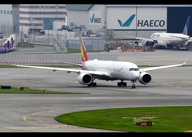 A350-941 | Asiana Airlines | HL8078 | HKG
