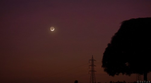 moon moonset crescentmoon luna nikon nikond7200 landscape