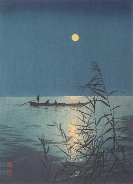 Koho Shoda – private collection. Moonlit Sea (c. 1910-1920)
