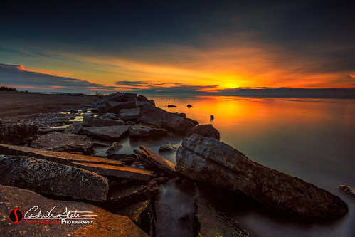 clouds discoverwisconsin greatlakes kenosha lakemichigan landscape rocks southportpark sunrise travelwisconsin water canon 5dmarkiii landscapephotography andrewslaterphotography